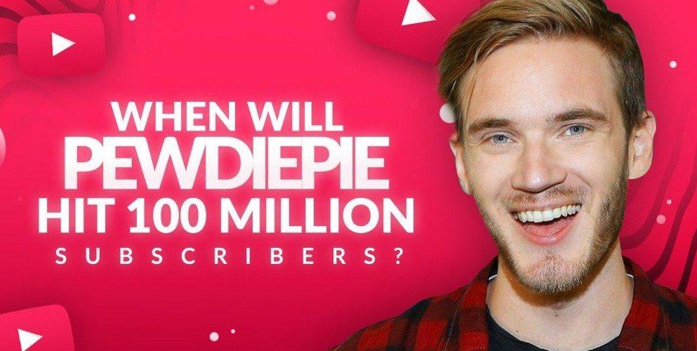 قناة PewDiePie على اليوتيوب تحقق 100 مليون مشترك
